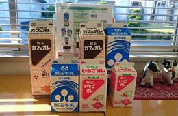 主力商品(酪王牛乳・カフェオレ・いちごオレ)